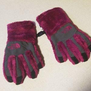 Girls Northface gloves